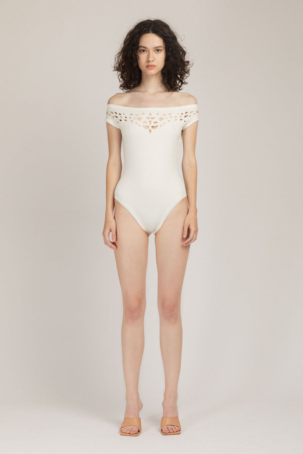 Pose Bodysuit White