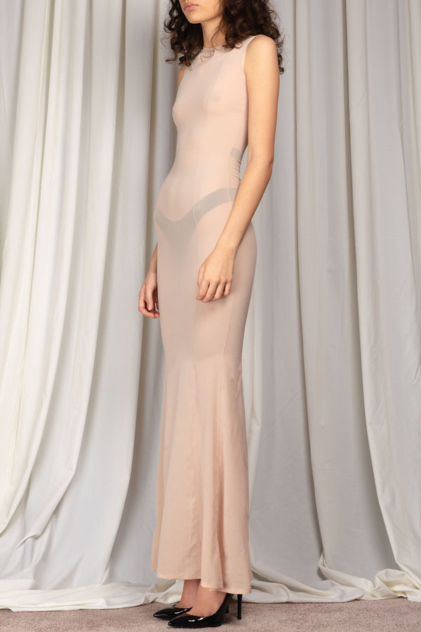 Primal Long Dress Nude