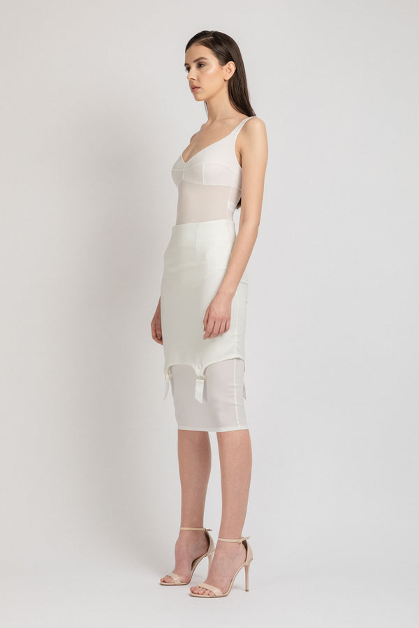 Profane Skirt White