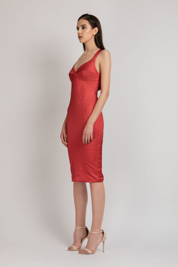 Haze Dress Red