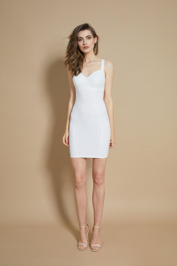 Sculpt Dress White
