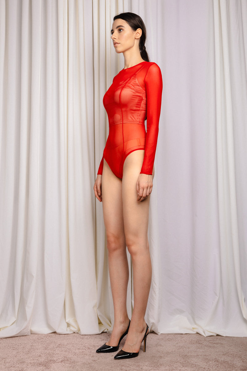 Shade Bodysuit Red