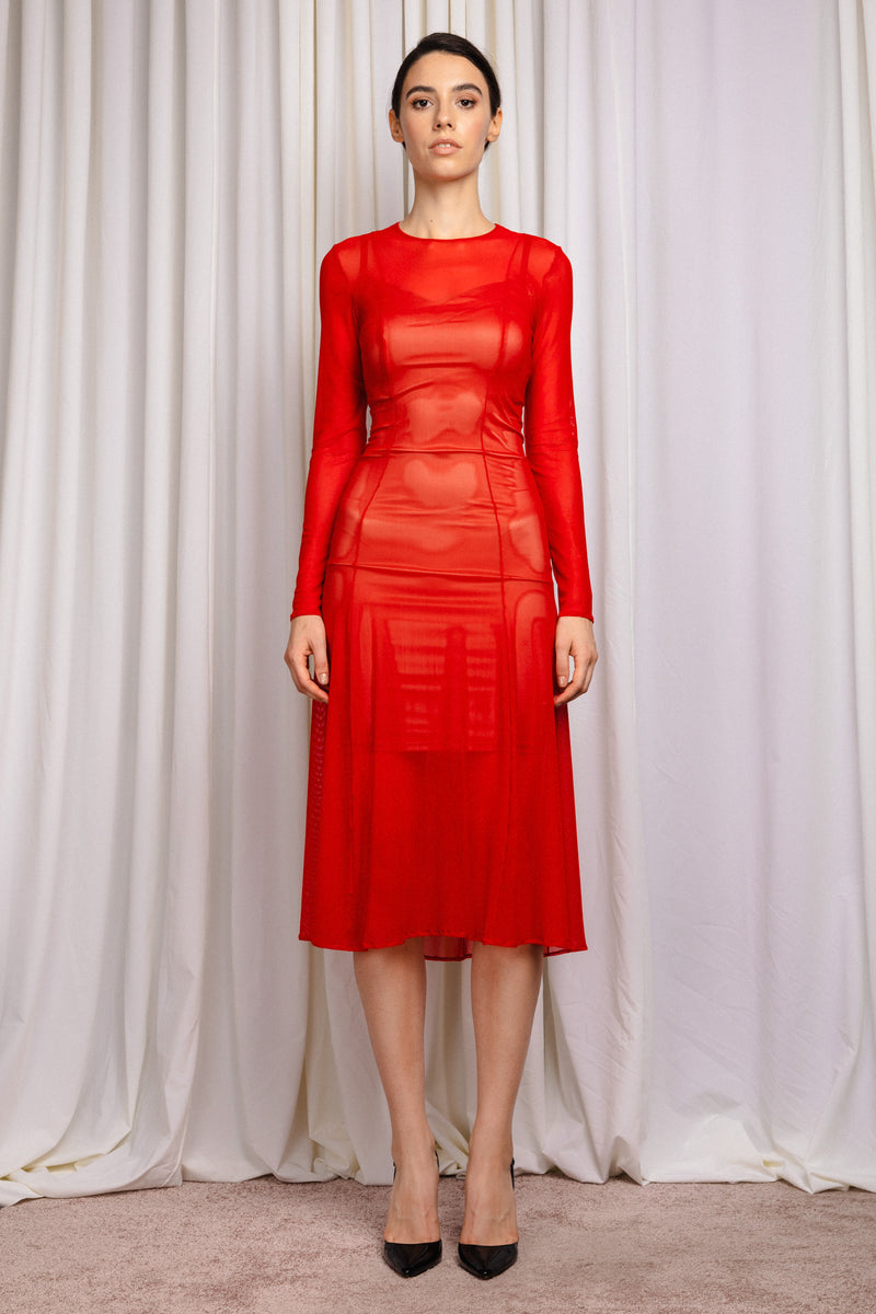 Shade Dress Red