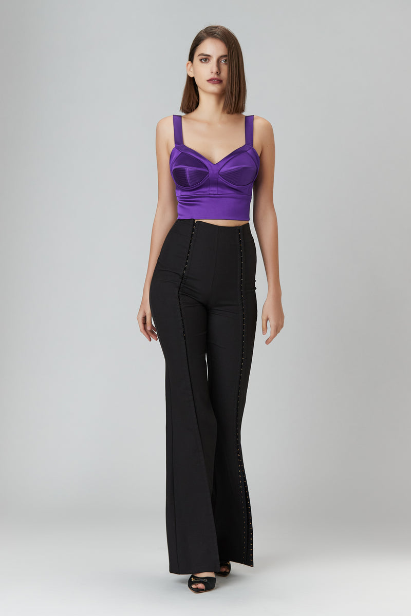 Satin Sculpt Bra Top Violet