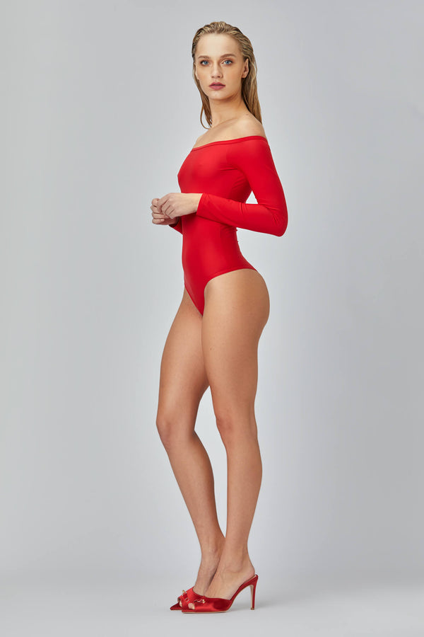 Shape Bodysuit Red