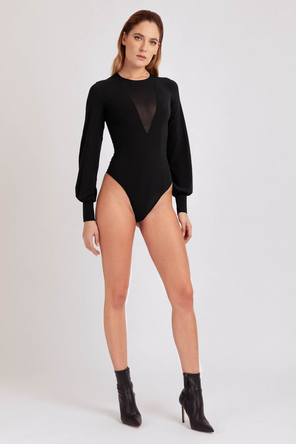 Skin Bodysuit Black