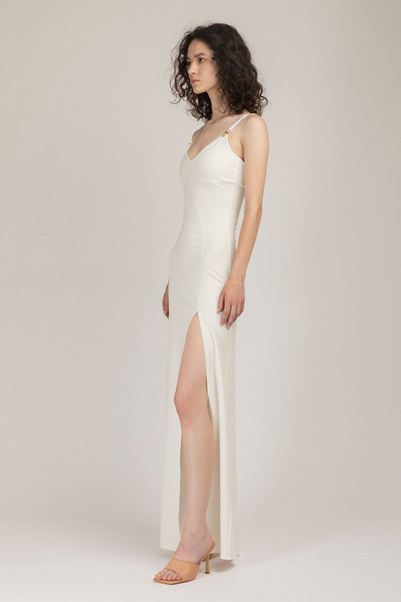 Skin Long Dress White
