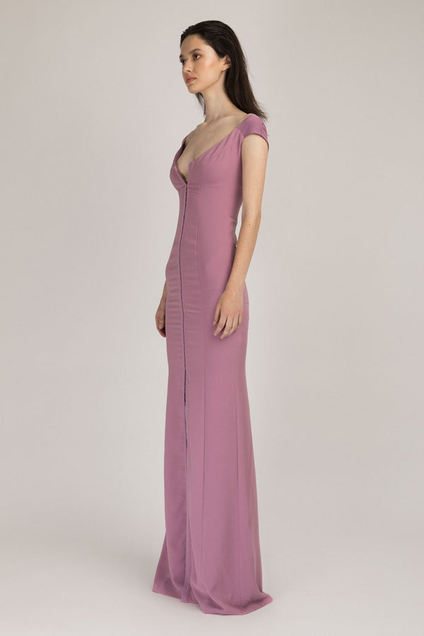Snap Long Dress Lavender