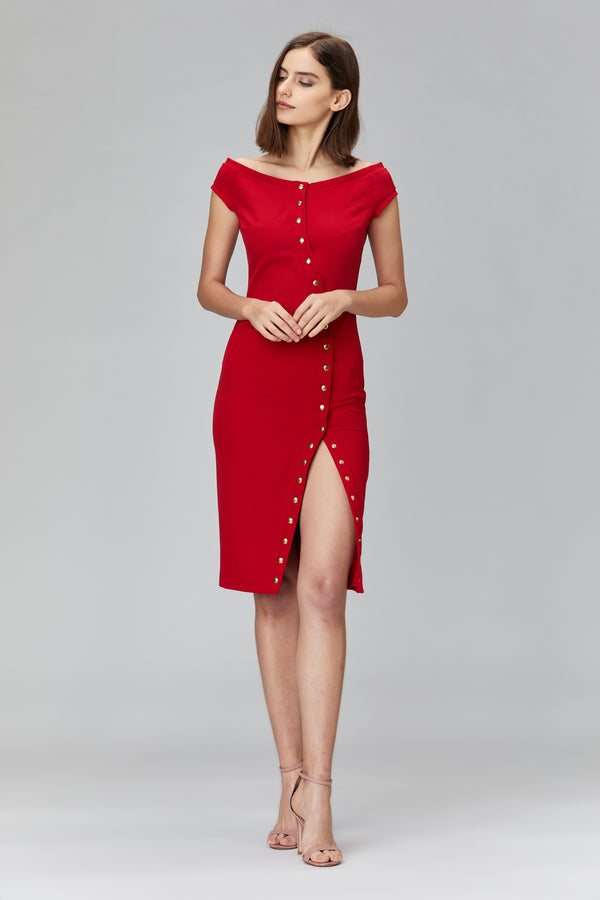Uncover Dress Red