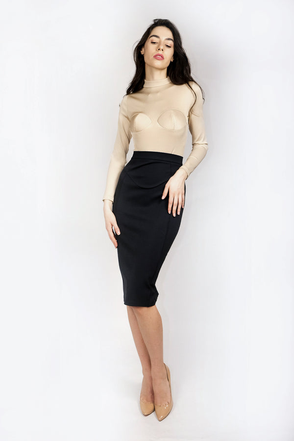 Cast Midi Skirt Antracite