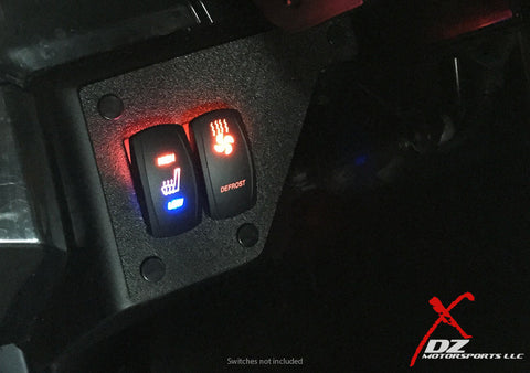 DZ Two Switch Panel Dash Plate