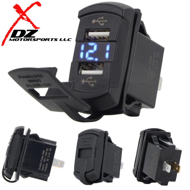 DUAL USB SWITCH SOCKET VOLT METER