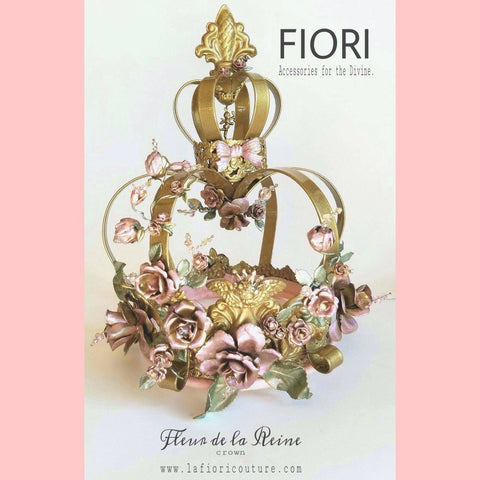 """FLEU DE LA REINE"" Couture Crown"