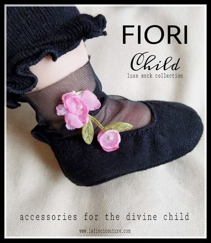 "FIORI Childrens Luxe Sock collection ""COCO PINK"""