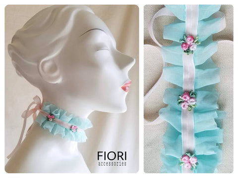 DOLCE Choker Necklace / Sea Foam or Pink