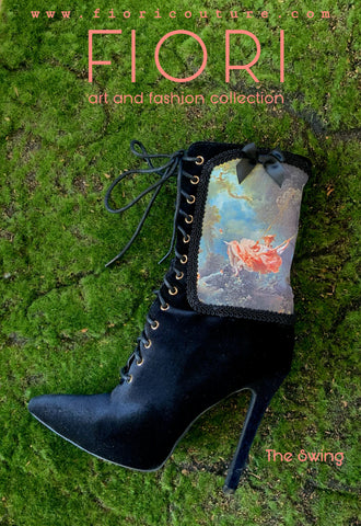 The Swing Custom Velvet Bootie
