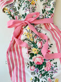 Betsey Johnson Vintage 1990's Floral Striped Dress