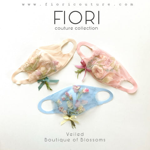 Veiled BOUQUET OF BLOSSOMS FIORI Couture Mask