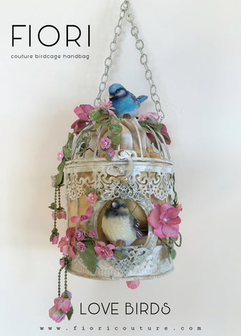 LOVE BIRDS BIRDCAGE HANDBAG