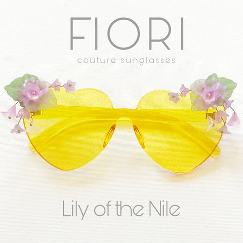 Lily of the Nile Heart shape Sunglasses