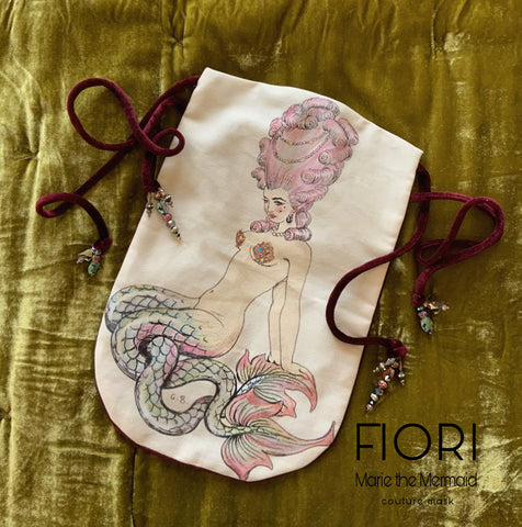 MARIE THE MERMAID ROYAL  Couture Mask