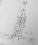 "FIORI ""WATER LILY"" Couture Gown"