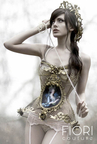 """Marie and The Rose"" Metal Corset"