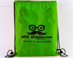 Sikk Branded Draw-String Backpack / Green