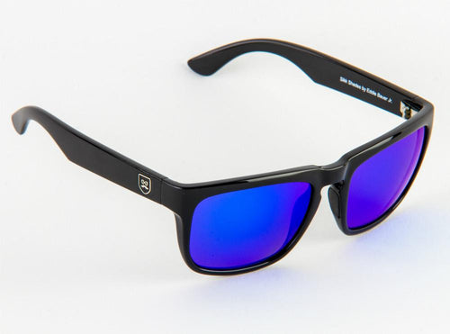 Huckleberry - Gloss Black / Blue Iridium Lens