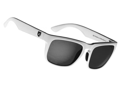 Huckleberry - Crisp White / Black Iridium Lens