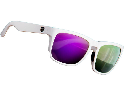 Huckleberry - Crisp White / Purple Iridium Lens