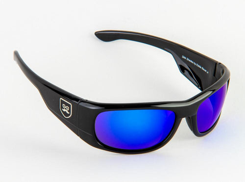 Qualifier - Gloss Black / Blue Iridium Lens