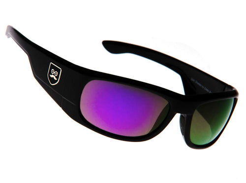 Qualifier - Gloss Black / Purple Iridium Lens