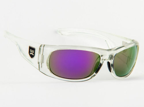 Qualifier - Crystal Clear / Purple Iridium Lens