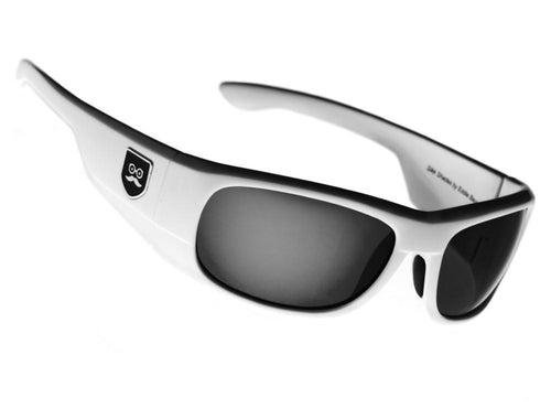 Qualifier - Crisp White / Black Iridium Lens