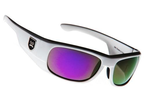 Qualifier - Crisp White / Purple Iridium Lens