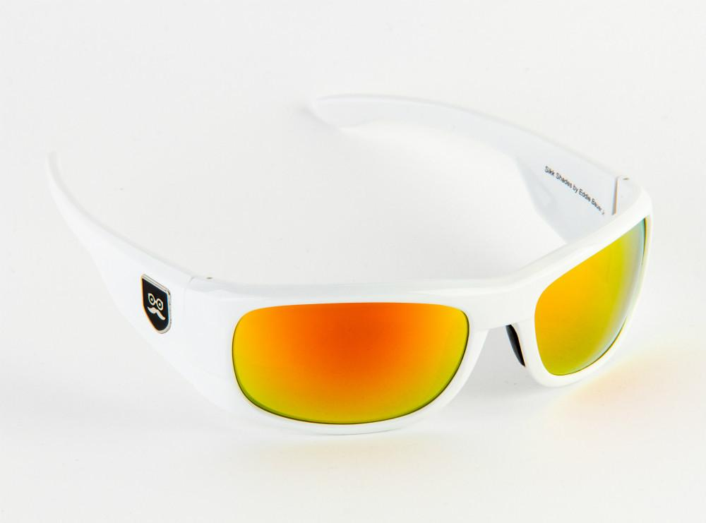 Qualifier - Crisp White / Red Iridium Lens