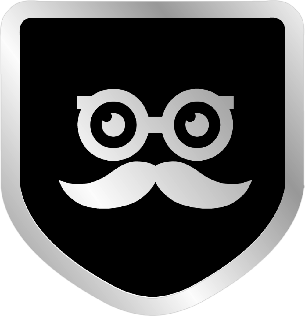 Sikk Groucho Decal 2in Black Badge