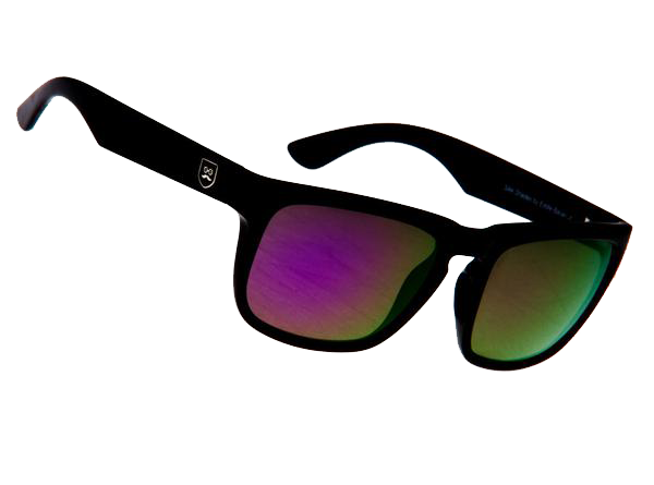 Huckleberry - Gloss Black / Purple Iridium Lens