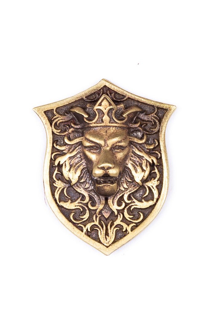 The Lion Shield Brooch