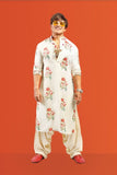IVORY MULTICOULOURED FLORAL   KURTA