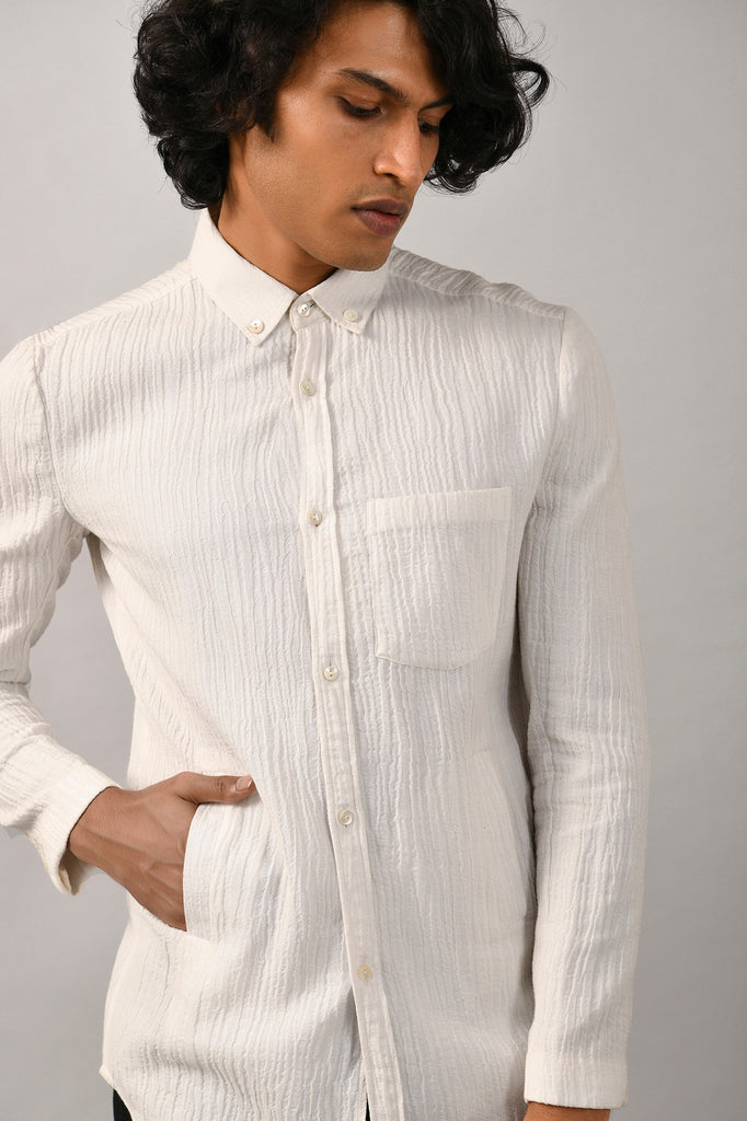 CRINKLE LONG SHIRT