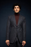 Herringbone blue wool suit
