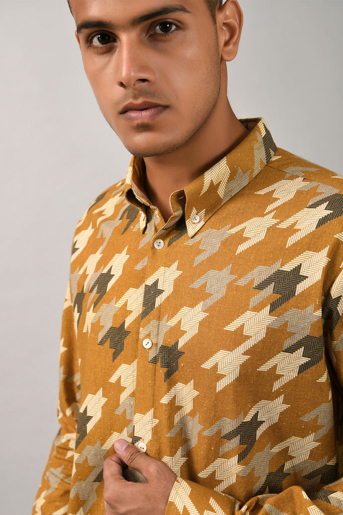 STAR HOUNDSTOOTH SHIRT