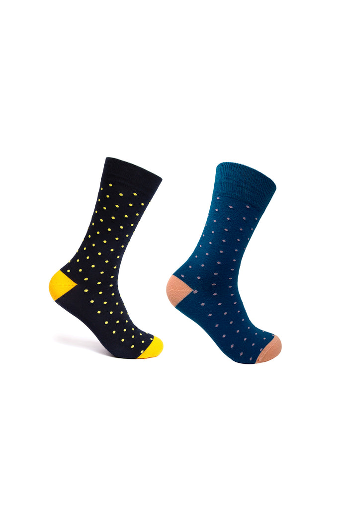 Mint & Oak Set of 2 socks - Polka