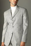Light Grey 3 button suit