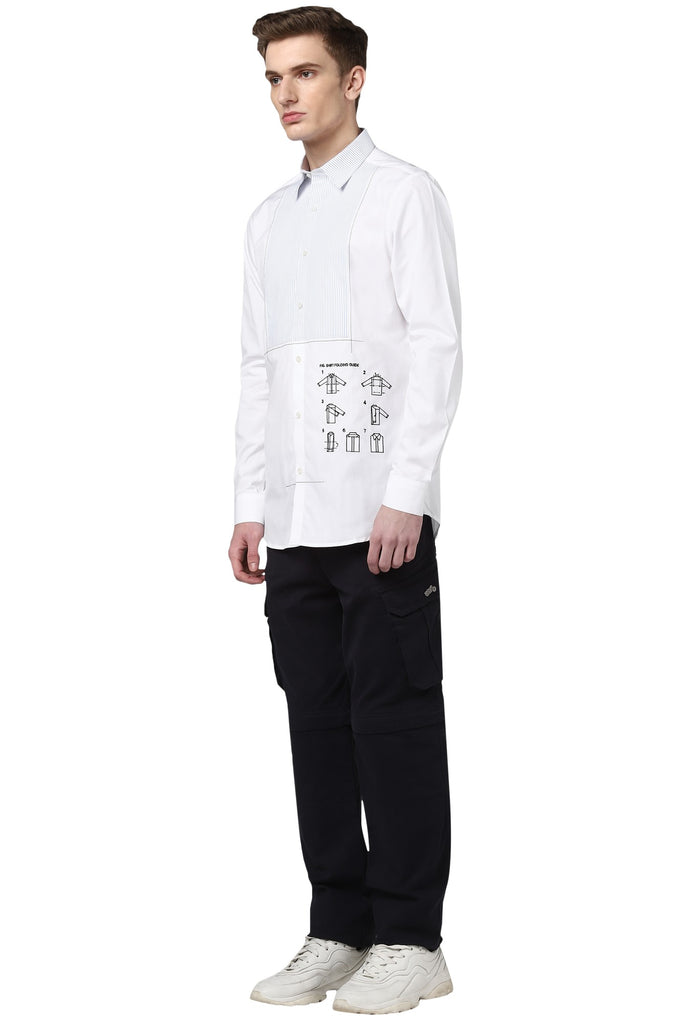 The Manual Shirt With Tux Detail
