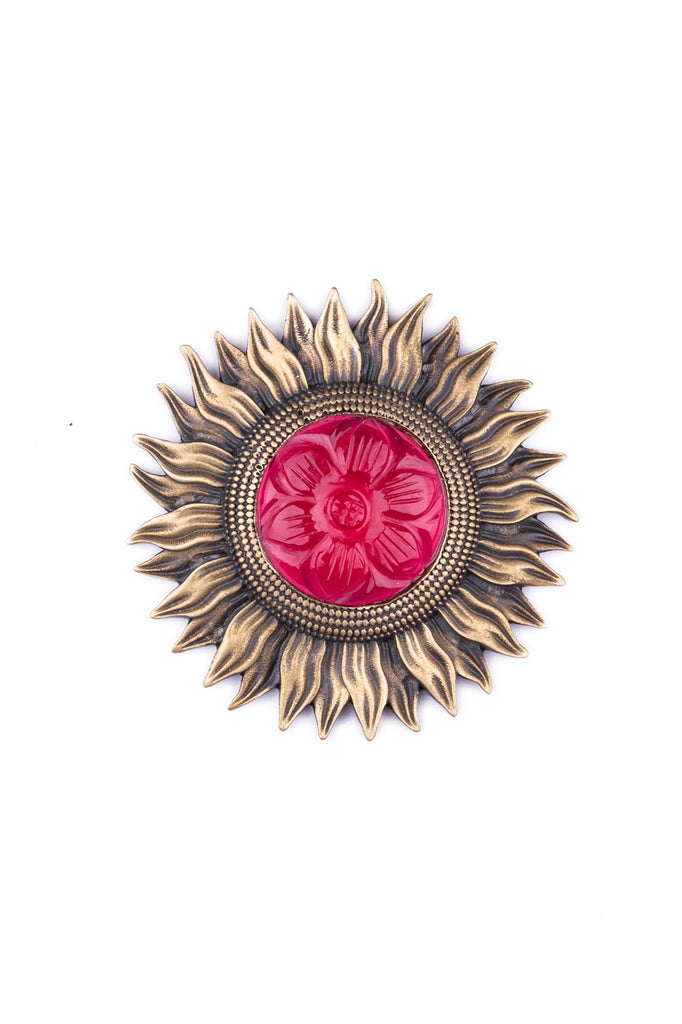 The Bloomed Sunflower brooch