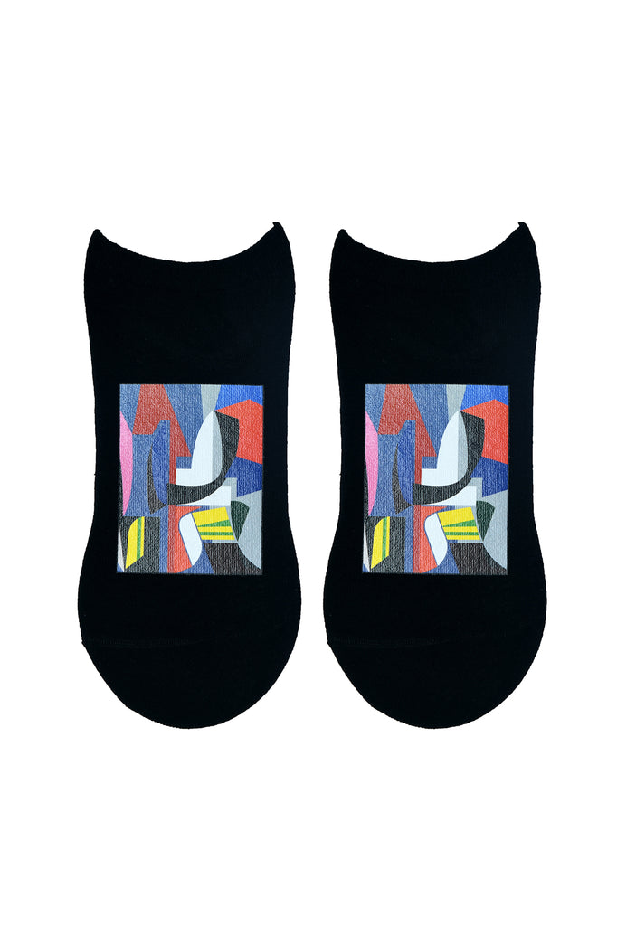 TOFFCRAFT - Abstract Art Print Low Cut Ankle Socks