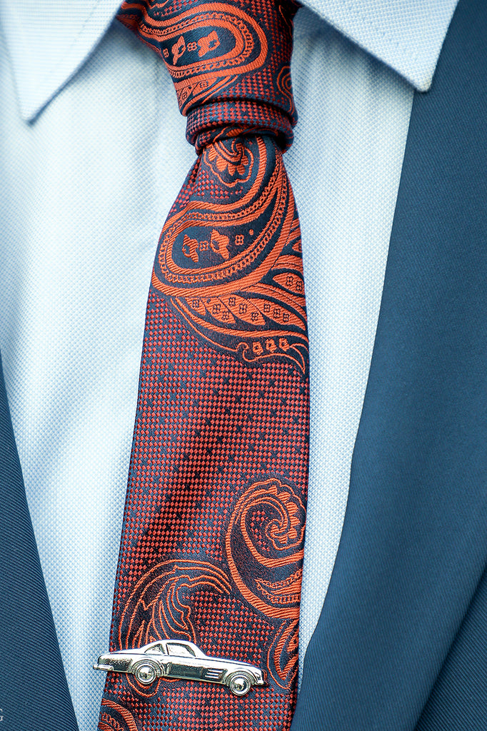 Ceremony Paisley Silk Tie, Burgundy